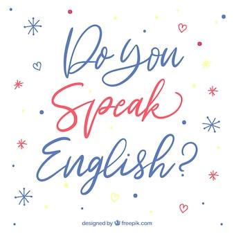 Spreekt u engelse van letters voorziende achtergrond