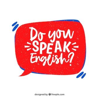 Spreekt u engelse vraag met hand getrokken stijl