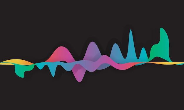 Sprekende geluidsgolf illustratie.