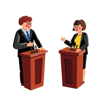 Spreker politicus debat of conferentie