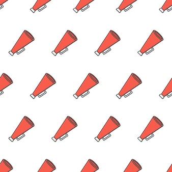 Spreker toa megafoon naadloze patroon. megafoon thema illustratie