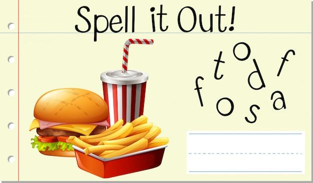 Spreuk het uit fastfood