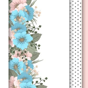 Spring bloem pensionair - lichtblauwe bloem