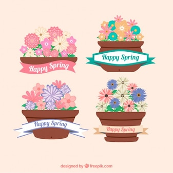 Spring bloempot collectie