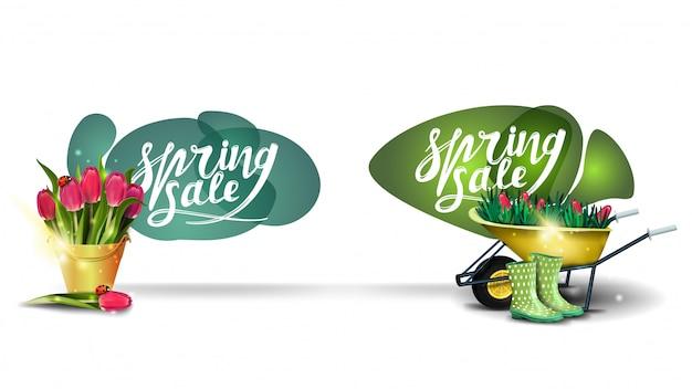 Spring sale-badges