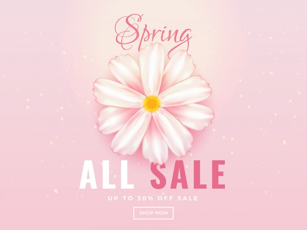 Spring sale banner of posterontwerp