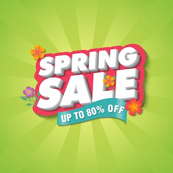Spring sale banner ontwerpsjabloon