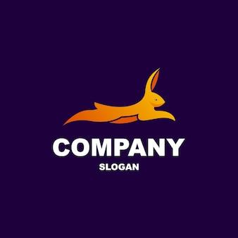 Springend konijn logo-ontwerp