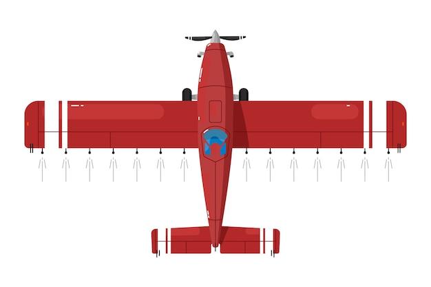 Sproeivliegtuig. gewasstofdoek vliegtuigen