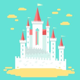 Sprookje kasteel concept