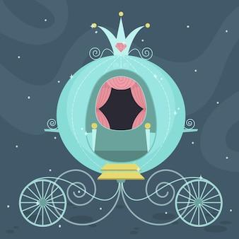 Sprookjeswagen met kroon