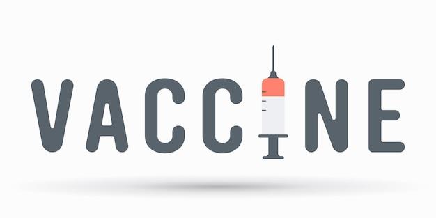 Spuit met covid-vaccin op wit wordt geïsoleerd