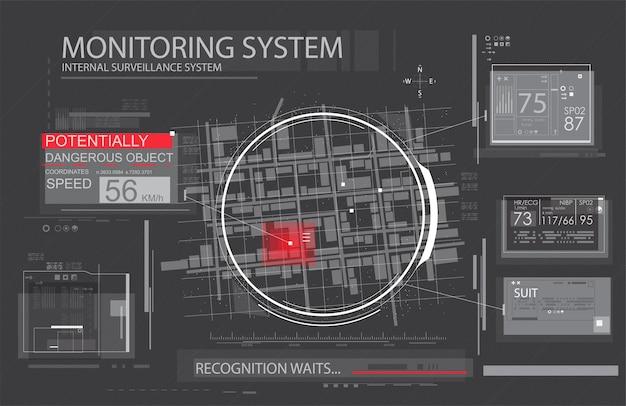 Spyware-app voor het volgen van illustratie