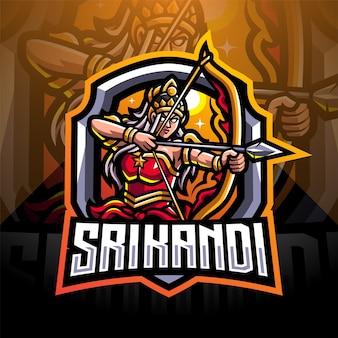 Srikandi esport mascotte logo ontwerp