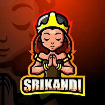 Srikandi mascotte esport illustratie
