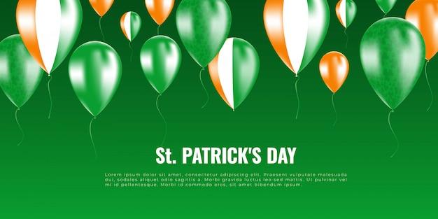 St. patrick dag achtergrond whith helium ballonnen