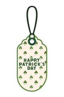 St patrick dag commercieel label geïsoleerd pictogram