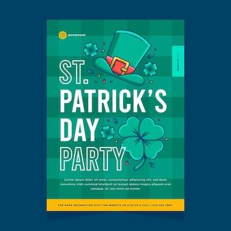 St. patrick dag flyer