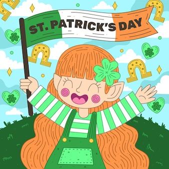 St. patrick dag illustratie