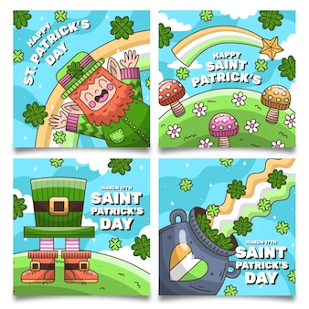St. patrick dag instagram-berichten