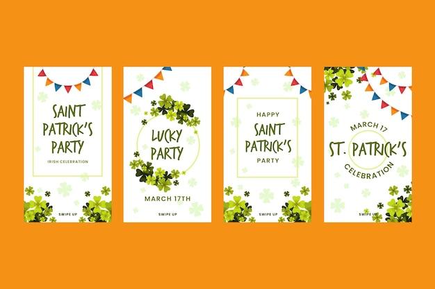 St. patrick dag instagram-verhalen
