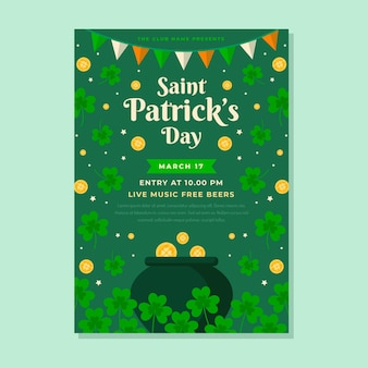 St patrick dag poster sjabloon