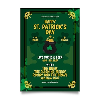 St. patrick dag poster sjabloon
