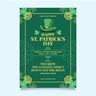 St. patrick dag sjabloon folder