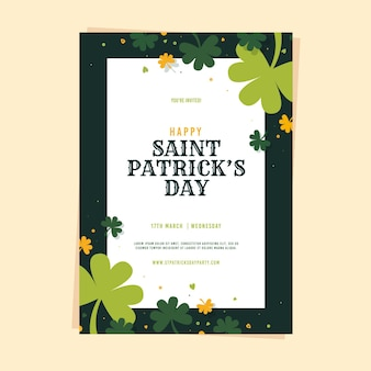 St. patrick dag sjabloon folder
