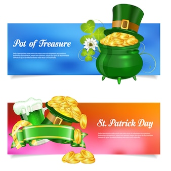St. patrick day banner set