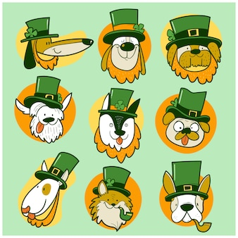St. patrick day dogs