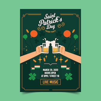 St. patrick's dag flyer / poster sjabloon