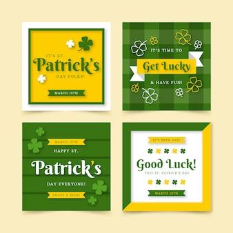 St. patrick's dag instagram postverzameling