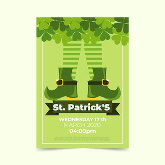 St. patrick's dag poster sjabloon
