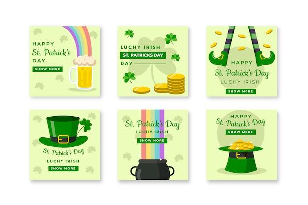 St. patrick's dag sociale media met munten