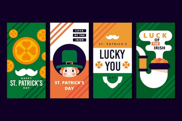 St. patrick's dag sociale media verhalen met geluk