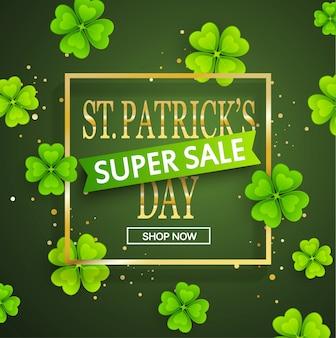 St.patrick's dag super verkoop achtergrond.