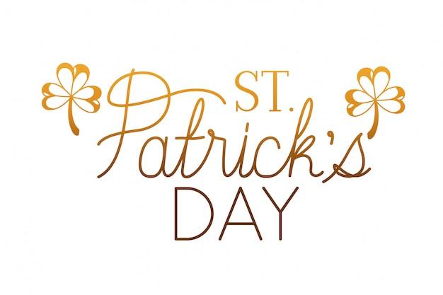 St patrick `s dagetiket geïsoleerd pictogram