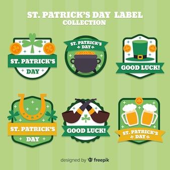St. patrick's day badge collectie