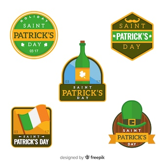 St. patrick's day badge collectie