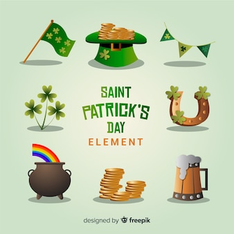 St. patrick's day element collectie
