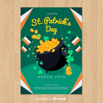 St patrick's day feestvlieger