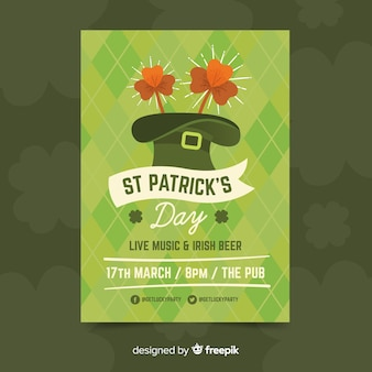 St. patrick's day flyer partij sjabloon
