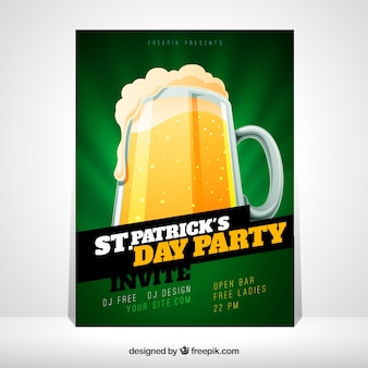 St. patrick's day flyer / poster sjabloon