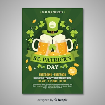 St. patrick's day flyer sjabloon