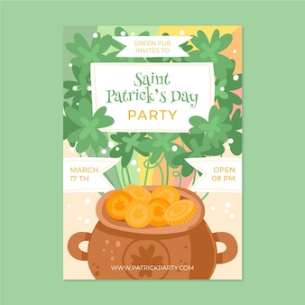 St. patrick's day flyer-sjabloon