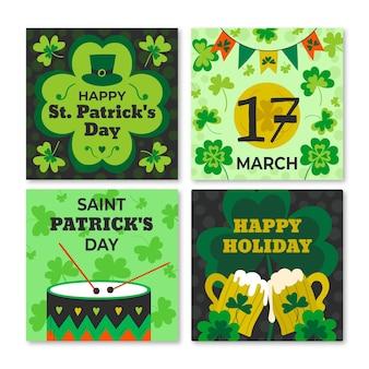 St. patrick's day handgetekende instagram-berichten