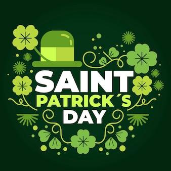St. patrick's day illustratie met hoed