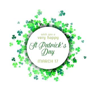 St patrick's day illustratie met kleurrijke groene klaver
