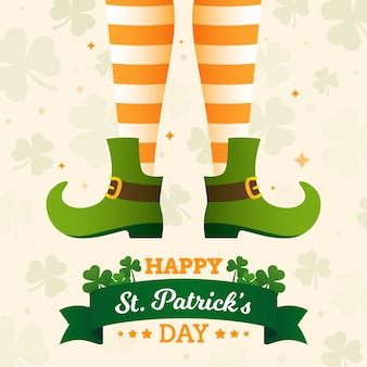 St. patrick's day in plat ontwerp